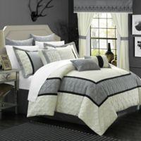 Chic Home Ariane 25-Piece Queen Comforter Set in Silver/White
