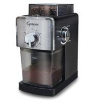 Capresso® Coffee Burr Grinder in Black/Stainless Steel
