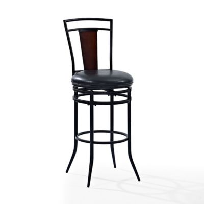 crosley soho metal counter stool in black - Metal Counter Stools