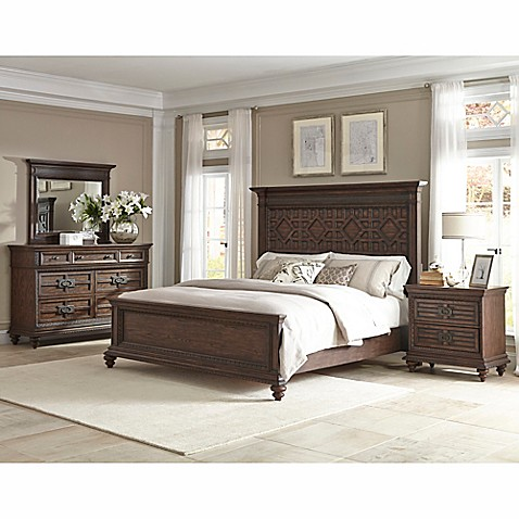 Buy Klaussner Palencia 4 Piece King Bedroom Set In Brown