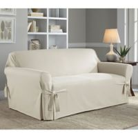 Perfect Fit Relaxed Fit Cotton Duck Sofa Slipcover in Natural