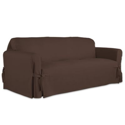Product Image For Perfect Fit Relaxed Fit Cotton Duck Furniture Sofa  Slipcover