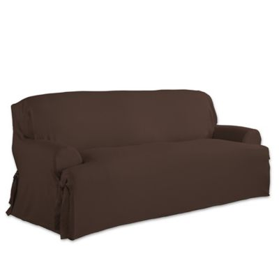 Exceptionnel Perfect Fit Relaxed Fit Cotton Duck T Cushion Sofa Slipcover In Chocolate