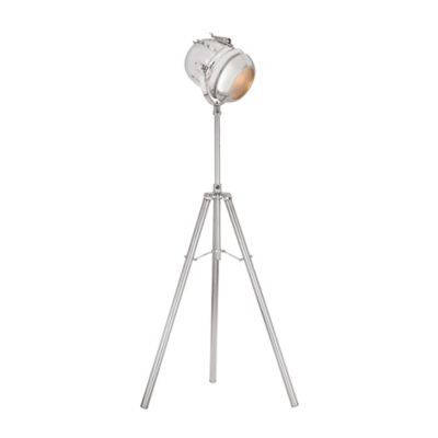 Dimond Tripous Tripod Nickel Table Lamp With White Shade