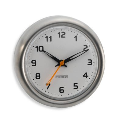 InterDesign  Forma Suction Clock. Buy Bathroom Clocks from Bed Bath   Beyond