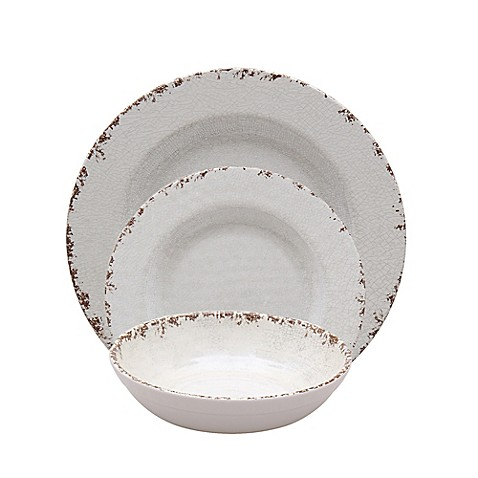 Ivory Crackle Melamine Dinnerware Collection  sc 1 st  Bed Bath u0026 Beyond & Ivory Crackle Melamine Dinnerware Collection - Bed Bath u0026 Beyond