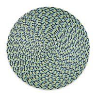 Round Placemat in Blue/Multi