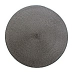 Indoor/Outdoor Round Placemats in Slate (Set of 6)
