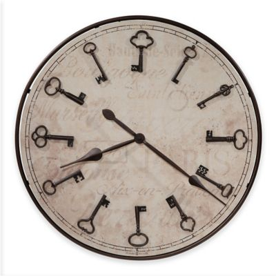High Quality Howard Miller® Cle Du Ville Round Wall Clock In Rubbed Bronze