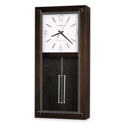 howard miller reese wall clock in black coffee - Howard Miller Clocks