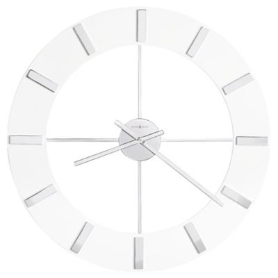 howard miller pearl round wall clock in gloss white - Howard Miller Wall Clock