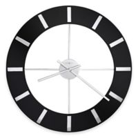 Howard Miller Onyx Wall Clock in Glossy Black