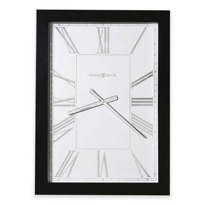 howard miller milo ii wall clock in glossy black - Howard Miller Wall Clock