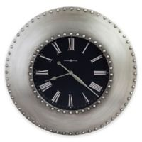 Bokaro Oversized Gallery Wall Clock in Antique Nickel