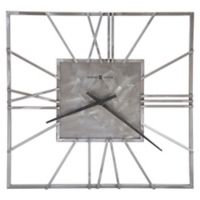 Howard Miller Lorain Square Wall Clock in Steel