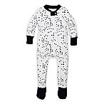 Burt's Bees Baby® Size 12M Twinkle Bee Organic Cotton Footed Pajama in Navy/White