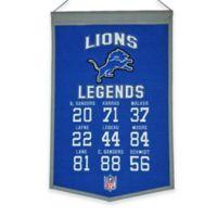 NFL Detroit Lions Legends Banner