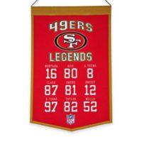 NFL San Francisco 49ers Legends Banner
