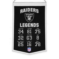NFL Oakland Raiders Legends Banner