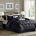 Madison Park Laurel 7-Piece Queen Comforter Set in Black