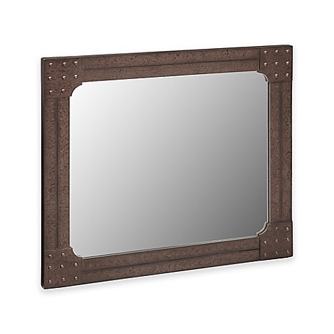 Ink ivy benicia 42 inch x 36 inch wall mirror in grey for Mirror 42 x 36