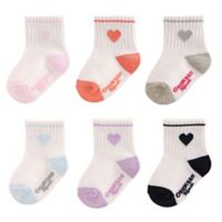 carter's Oshkosh B'Gosh Size 12-24M 6-Piece Heart Socks