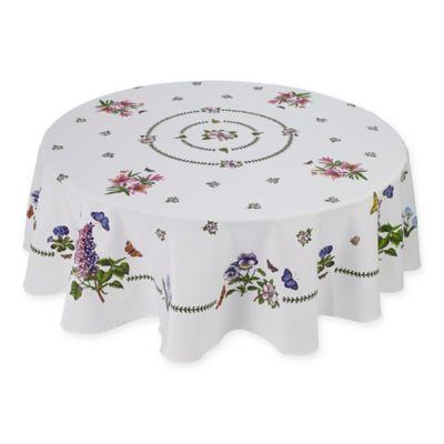 Avanti Portmeirion® Botanic Garden 70 Inch Round Tablecloth