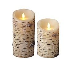 Luminara® Birch Flameless Pillar Candle - Bed Bath & Beyond