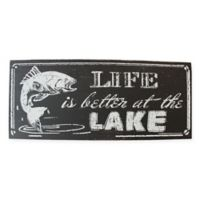 """Welcome to the Lake"" Wood Table Top Sign"