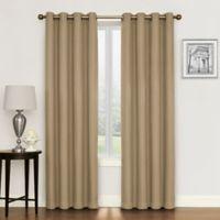 Morrison 108-Inch Grommet Top Room Darkening Window Curtain Panel in Linen
