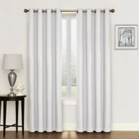 Morrison 95-Inch Grommet Top Room Darkening Window Curtain Panel in White