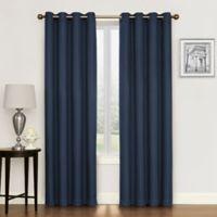 Morrison 108-Inch Grommet Top Room Darkening Window Curtain Panel in Navy
