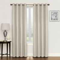 Morrison 63-Inch Grommet Top Room Darkening Window Curtain Panel in Natural