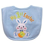 Hamco  My First Easter  Applique Bib in Blue