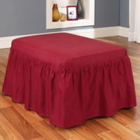 Duck Solid 2-Piece Claret Ottoman by Sure Fit®