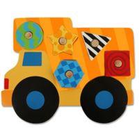 Stephen Joseph® Construction Shaped Wooden Peg Puzzle in Orange