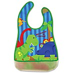 Stephen Joseph® Dino Wipeable Bib in Green