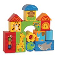 Stephen Joseph® Zoo Animals 14-Piece Wooden Block Set