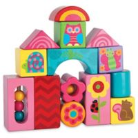 Stephen Joseph® Garden Animals 14-Piece Wooden Block Set
