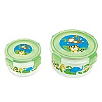 Stephen Joseph® Zoo Nesting Snack Containers in Green (Set of 2)