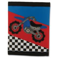 Stephen Joseph® Motocross Wallet in Black