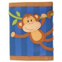 Stephen Joseph® Monkey Wallet in Blue