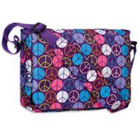 Wildkin Peace Signs Kickstart Messenger Bag in Purple