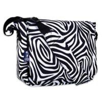 Wildkin Zebra Kickstart Messenger Bag in Black