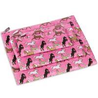 Wildkin Horses 3-Piece Organizer Pouch Set in Pink