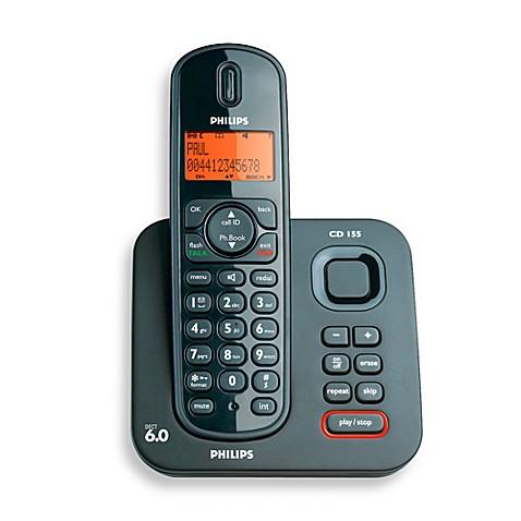 philips cordless phone with answering machine cd1551b 17 bed bath rh bedbathandbeyond com