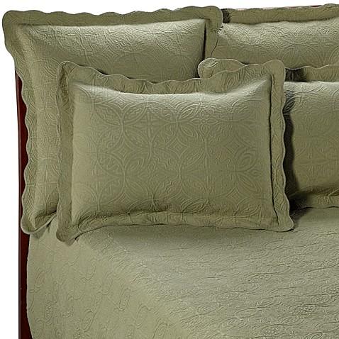 Matelasse Coventry Sage Quilt Set 100 Cotton Bed Bath