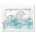 Designs Direct First Mate Big Miracle Waves 20-Inch x 16-Inch Canvas Wall Art in Blue