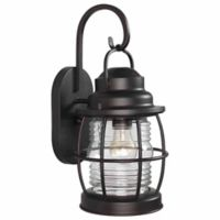 Kenroy Home Beacon 16-Inch Wall-Mount Outdoor Lantern in Copper
