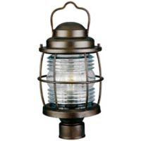Kenroy Home Beacon 18-Inch Post-Mount Outdoor Lantern in Copper